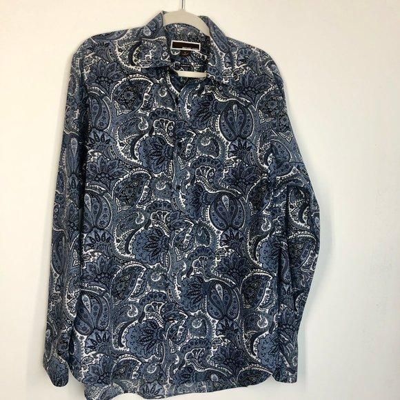 Michael Kors Other - Michael Kors Paisley Print Dress Shirt Size Large